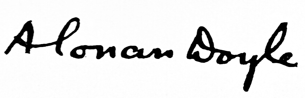 Arthur Conan Doyle Signature for book